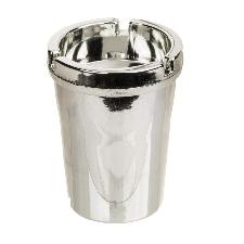 Auto asbak zilver/chroom 11 x 8 cm - sigaret dovende auto asbak - auto accessoires