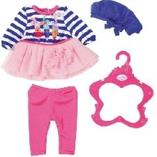 BABY born kledingset voor pop Fashion van 43 cm blauw/roze
