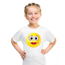 Smiley/ emoticon t-shirt diva wit kinderen