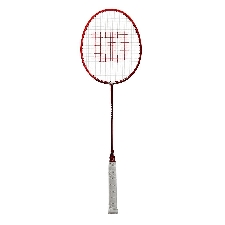 Wilson badmintonracket Attacker aluminium rood/zwart