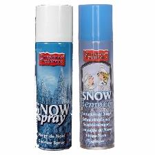 Sneeuwspray set 1x spuitsneeuw bus 300 ml en 1x reinigingsspray 125 ml - Kunstsneeuw/nepsneeuw spray en verwijderaar