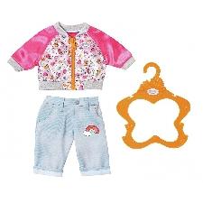 BABY born kledingset voor pop van 43 cm roze/lichtblauw