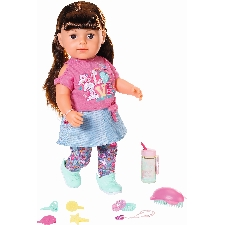 Pop Soft Touch Sister Baby Born 43 cm bruin Babypop Zapf Creations Baby Born