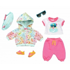 BABY born kledingset voor pop tot 43 cm roze/turquoise 6-delig