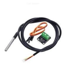 DS18B20 Temperatuursensor Module Kit Waterdicht 100 Cm Digitale Sensor Kabel Roestvrij Stalen Probe Terminal Adapter Voor Arduino
