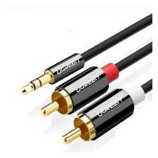 UGREEN 3.5mm Naar 2RCA Kabel Nylon Gevlochten Audio Extra Adapter Stereo Y Splitter Kabel Voor Smartphone Speakers Tablet HDTV MP3