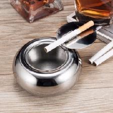Nieuwe Mode Roestvrij Stalen Vat Vorm Deksel Asbak Met Deksel, Auto Asbak, Sigaret Sigaar Rookloze Asbak Lichtgrijs