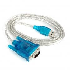 HL-340 USB naar RS232 Seriële Poort Adapter Kabel-Groen + Zilver (80cm)