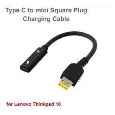 CWXUAN Type-C Naar Mini Square Smart Plug Kabel Adapter Voor Lenovo ThinkPad 10 / ThinkPad Helix 2