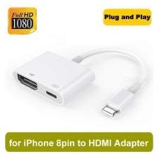 8-pins Digitale AV-adapter Bliksem Naar HDMI-kabel Voor Apple IPhones - Wit