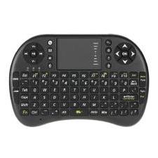 2.4ghz Backlight Lucht Draadloze Muis Android Tv-afstandsbediening IR Mini Draadloze Toetsenbord Voor PC Laptop - Zwart