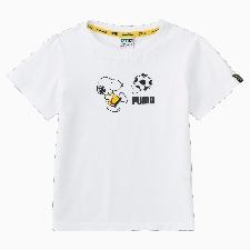 PUMA x PEANUTS T-shirt kinderen, Wit, Maat 110