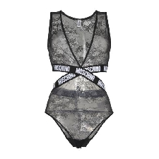Moschino Women Black Lingerie bodysuit Polyamide, Elastane