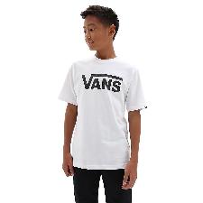 VANS Vans Classic T-shirt Voor Kinderen (8-14+ Jaar) (white-black) Boys Wit, Maat M