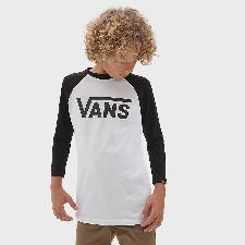 VANS Classic Raglan T-shirt Voor Kinderen (8-14+ Jaar) (white-black) Boys Wit, Maat M