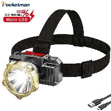 35000 lm Super Bright LED Reflektor Akumulatorowa latarka czołowa USB Nocna latarka czołowa