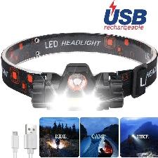 XPE + COB LED latarka czołowa ładowanie USB reflektory wędkarskie latarka wodoodporny kemping przenośny