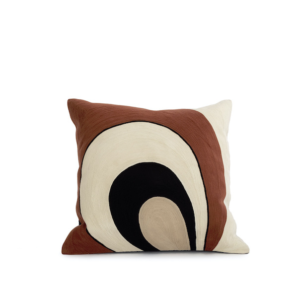 Coussin Paon