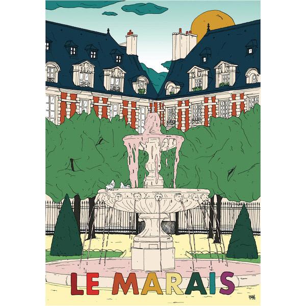 Affiche Le Marais